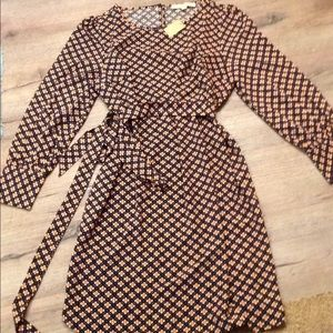 New tags loft L petite fall winter dress long slev